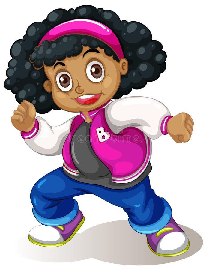 非洲女孩字符 向量例证
