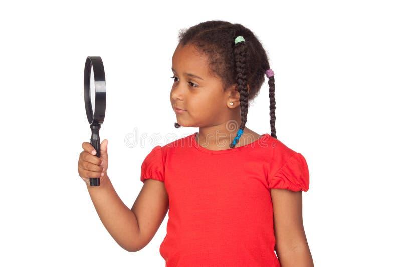 非洲女孩查找的一点 免版税库存图片