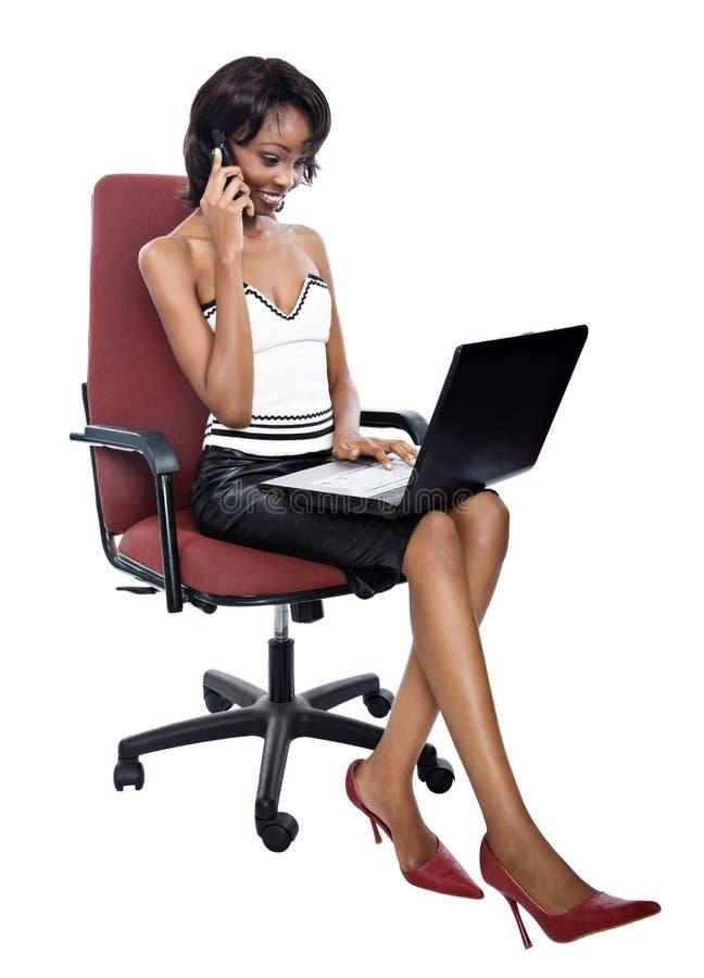 非洲女实业家 免版税库存图片