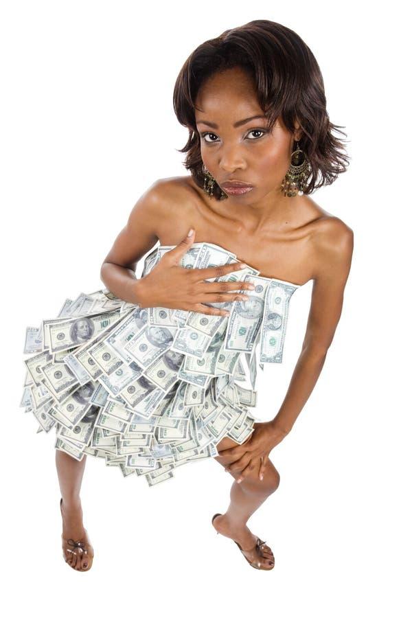 非洲女实业家 免版税库存照片