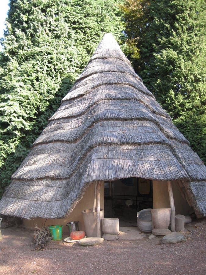 非洲小屋 免版税库存照片