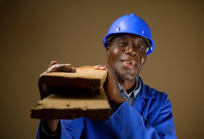 非洲建筑工人 库存图片