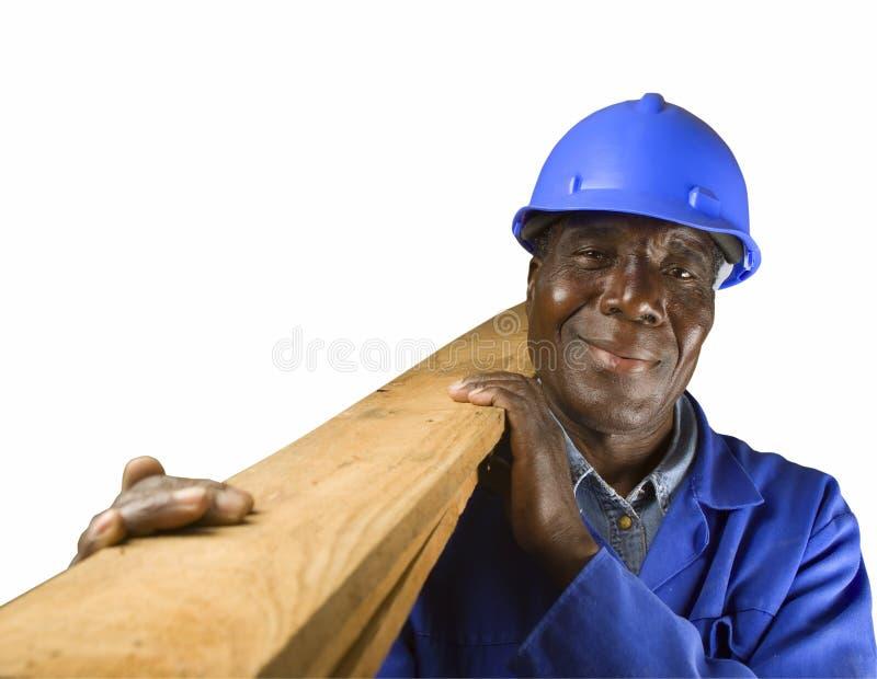 非洲建筑工人 库存照片