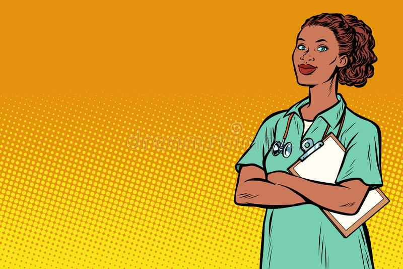 非洲护士 医学和健康 皇族释放例证