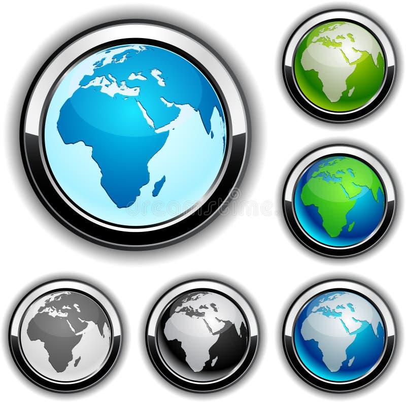 非洲按地球 向量例证