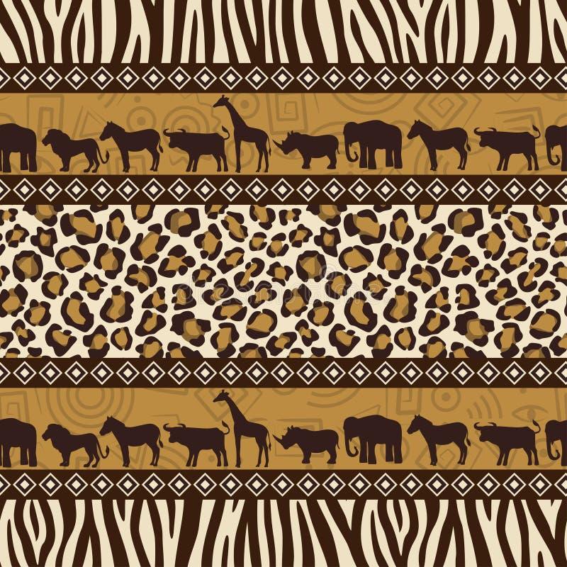 非洲无缝的样式 库存例证