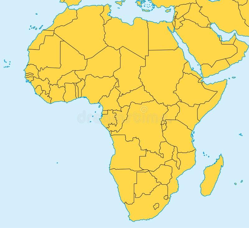 非洲映射向量 库存例证