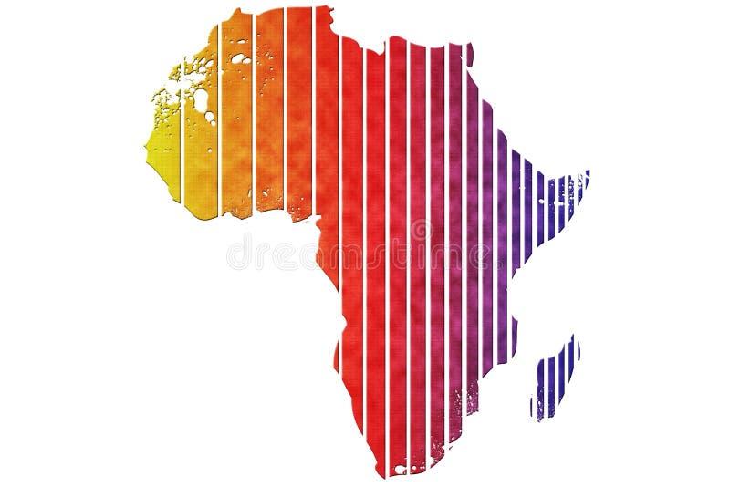非洲映射 皇族释放例证
