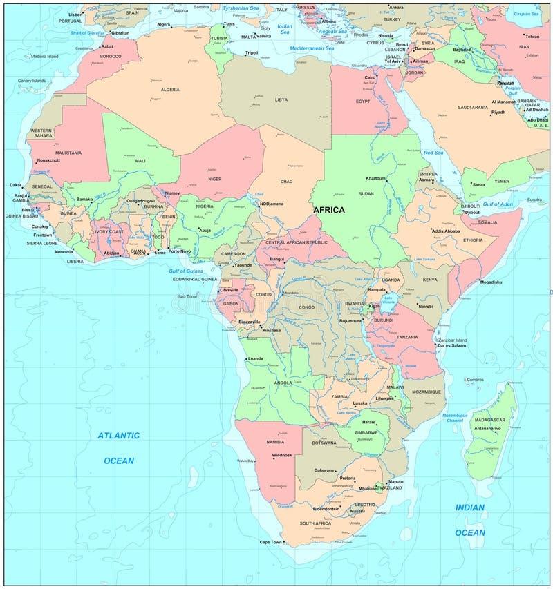 非洲映射 库存例证