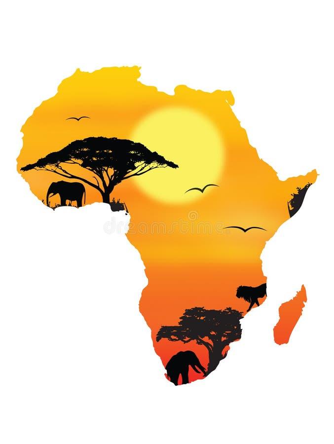 非洲概念 皇族释放例证
