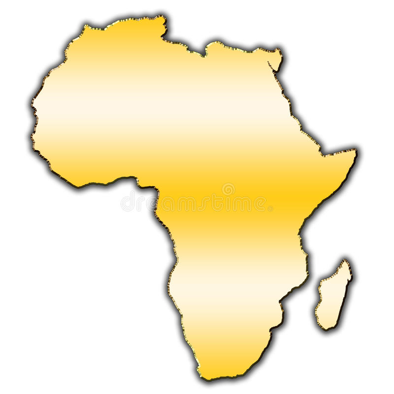 非洲概述映射 库存例证