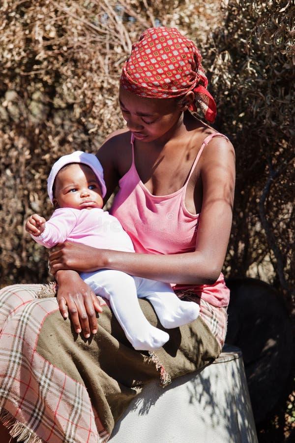 非洲母亲 库存图片