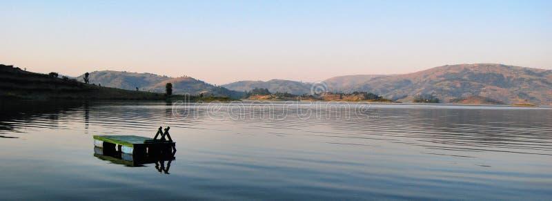 非洲湖 免版税库存照片