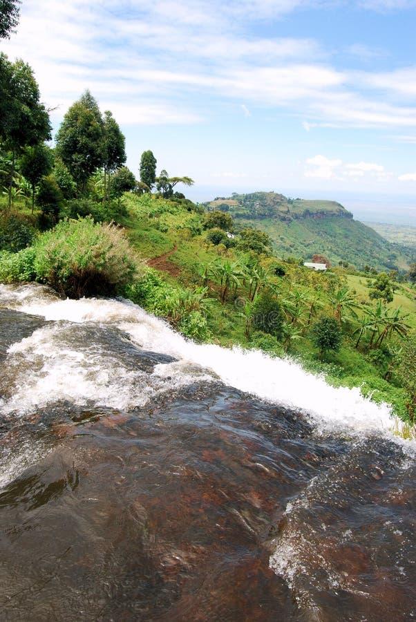 非洲瀑布 免版税图库摄影