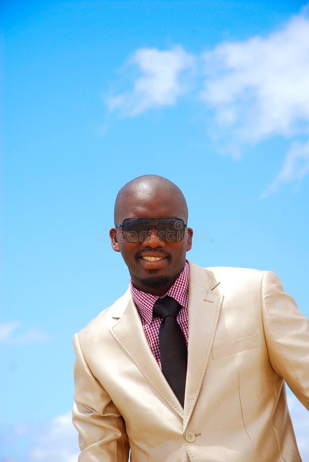 非洲生意人 免版税库存图片
