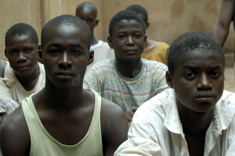 非洲男孩 免版税图库摄影