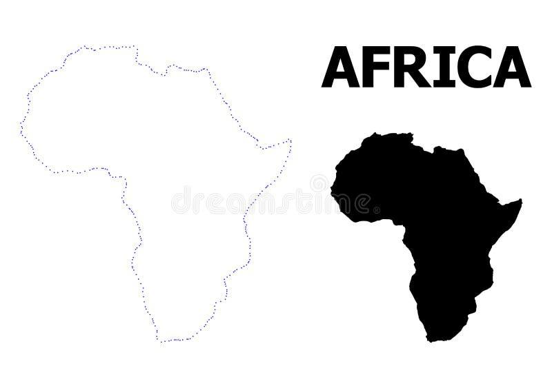 非洲的传染媒介等高被加点的地图有名字的 库存例证
