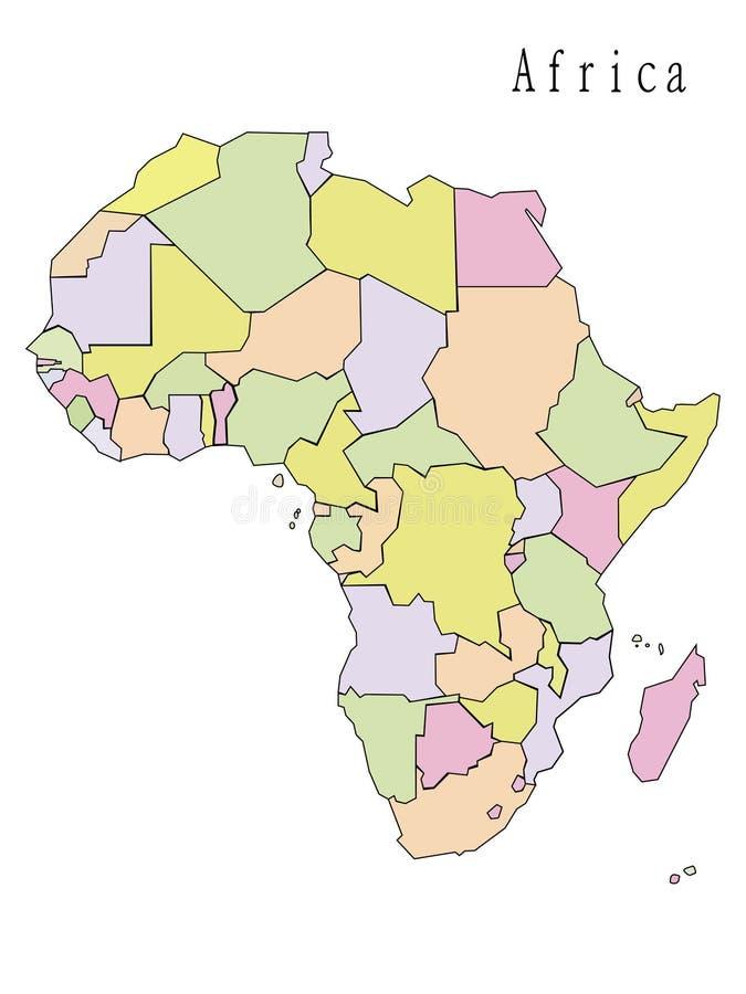 非洲的映射 免版税库存照片