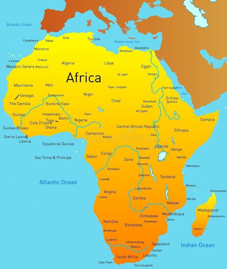 非洲的映射