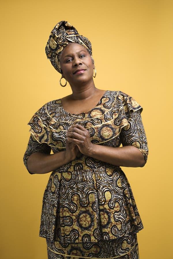 非洲礼服妇女 免版税库存图片
