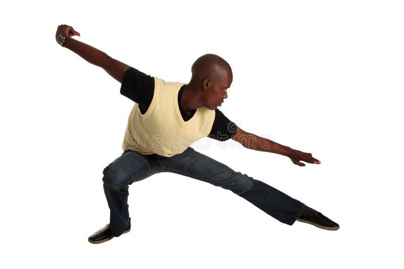 非洲空手道人姿势 库存图片