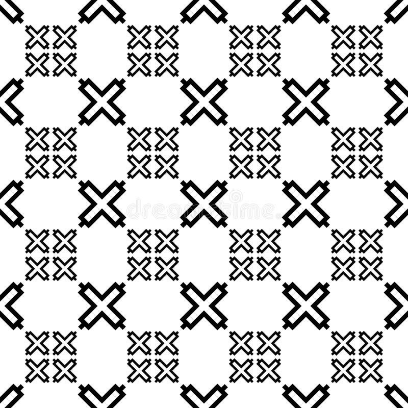 非洲篱芭无缝的主题 非洲马赛克背景 部族墙纸 种族民间图象 种族装饰品 数字纸,网 向量例证