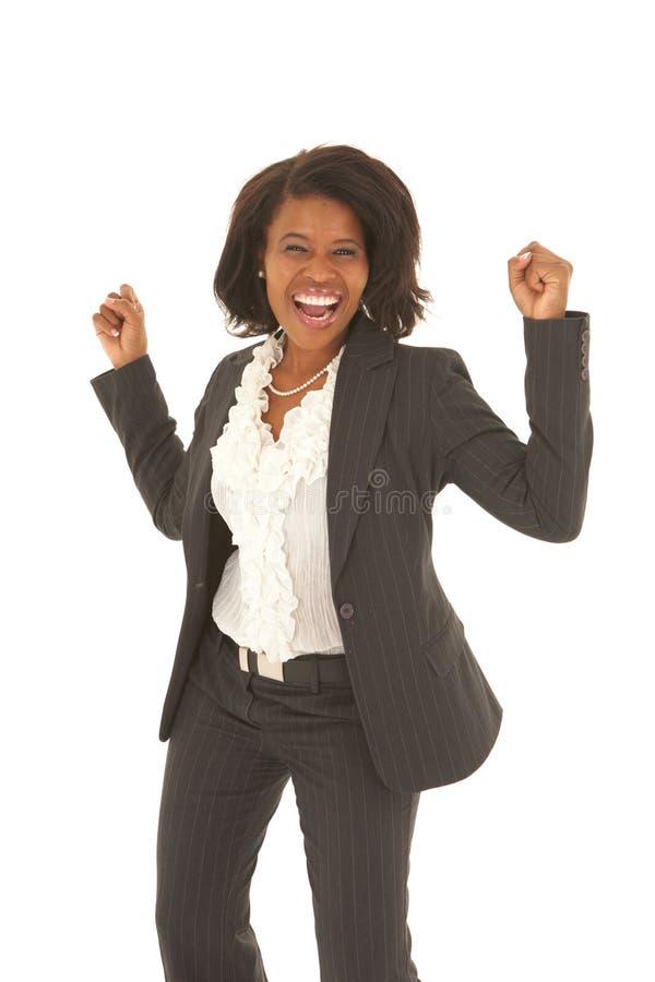 非洲美丽的女实业家 库存图片