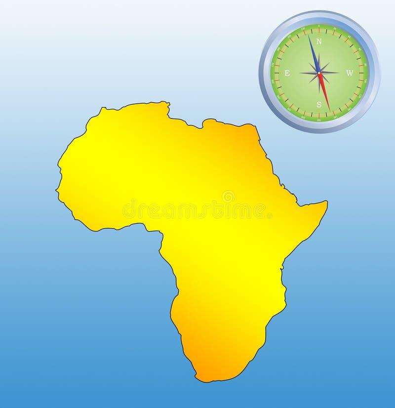 非洲背景 皇族释放例证