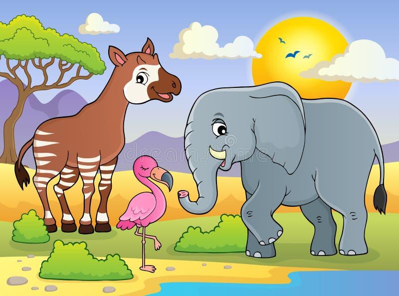 非洲自然题材图象7 库存例证