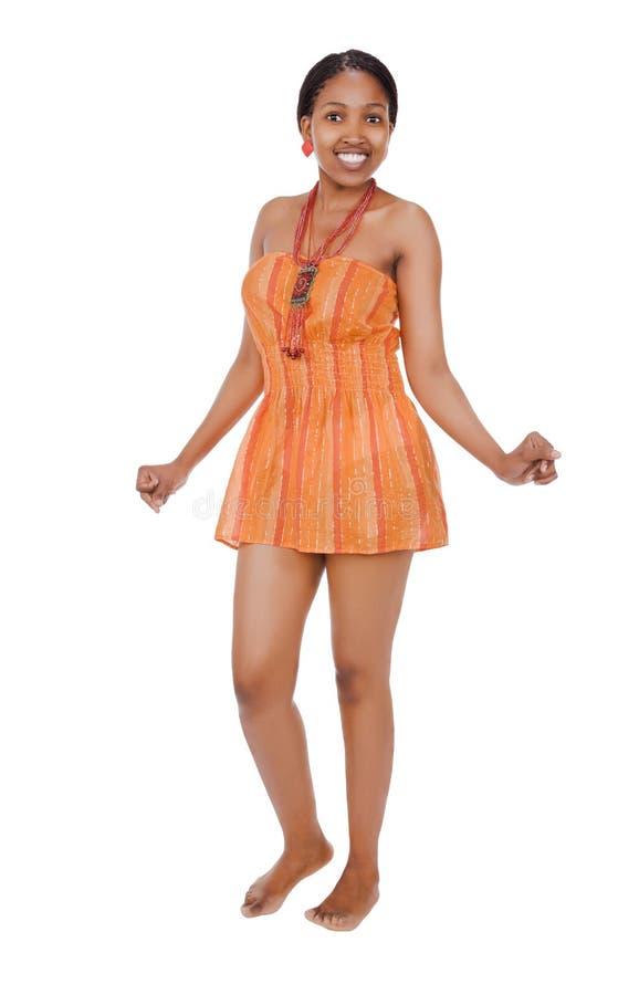 非洲舞蹈演员 免版税图库摄影
