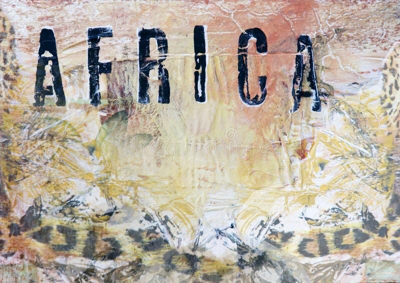 非洲艺术品背景 皇族释放例证