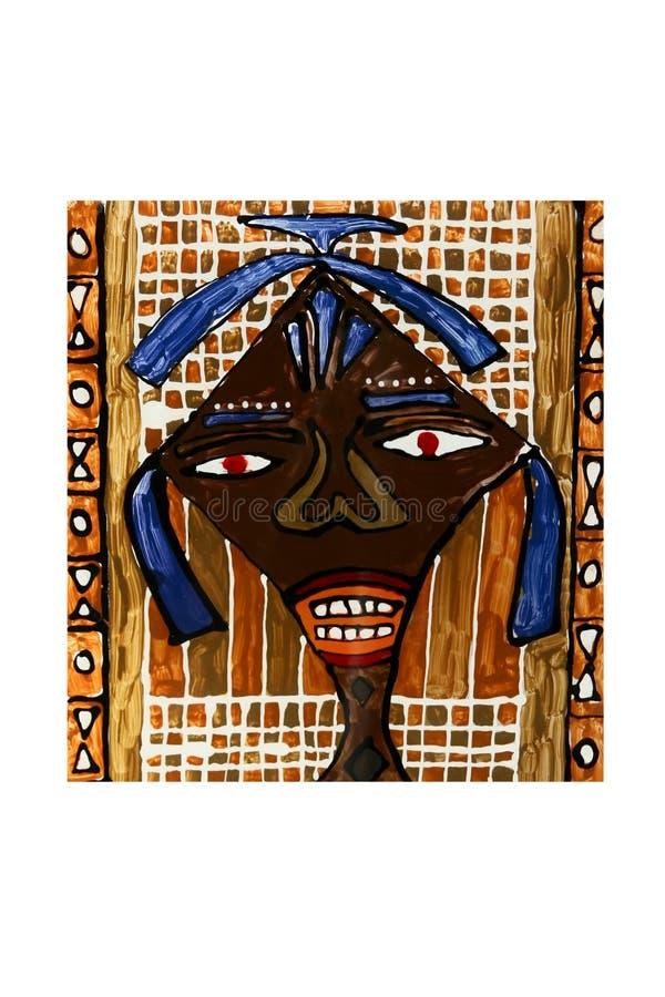 非洲艺术女孩 库存图片