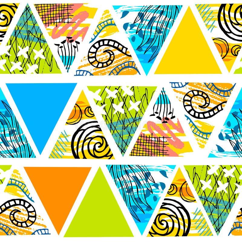 非洲蜡染布热带无缝的样式 抽象夏天decorat 库存例证