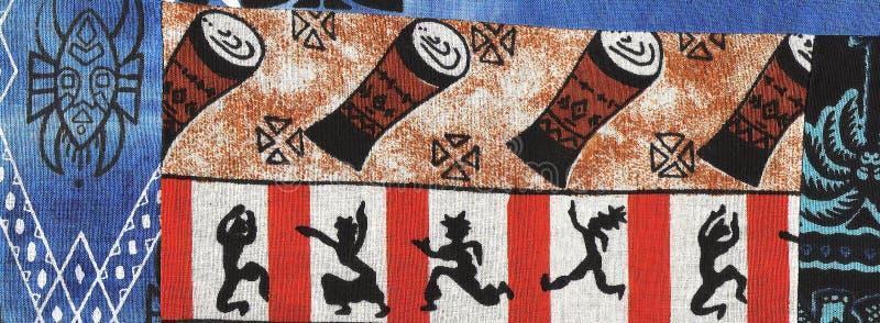 非洲蜡染布舞蹈演员 免版税库存图片
