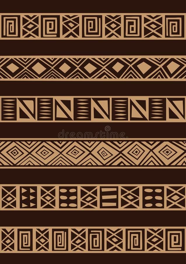 非洲装饰品 皇族释放例证