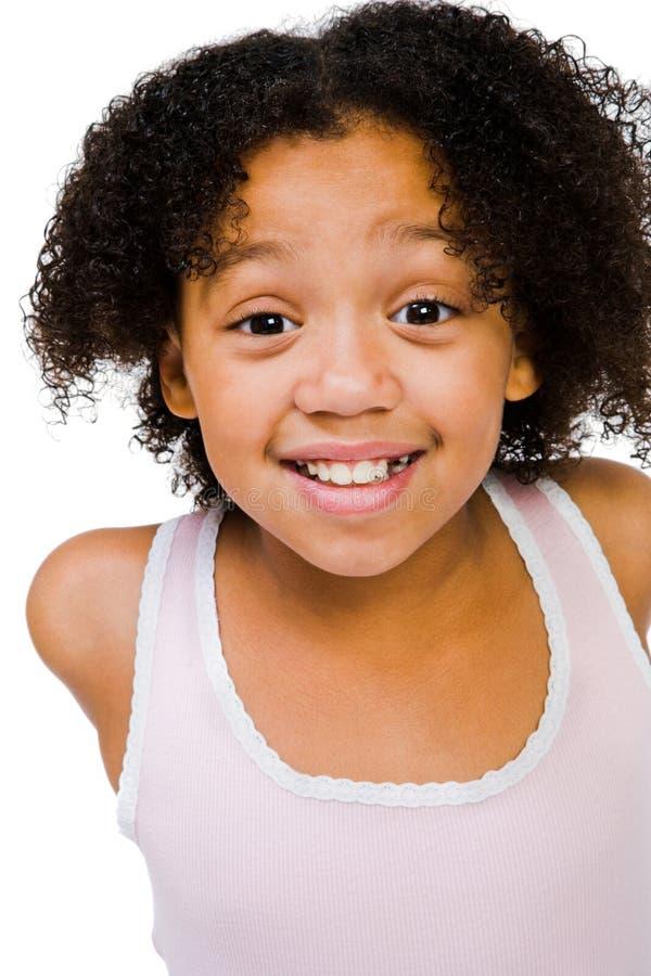 非洲裔美国人女孩摆在 库存照片