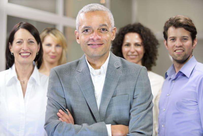 非洲裔美国人的企业生意人小组 免版税图库摄影