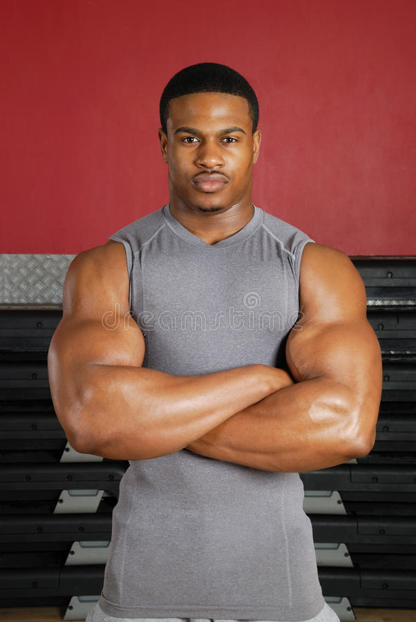 非洲裔美国人的健身培训人 库存照片