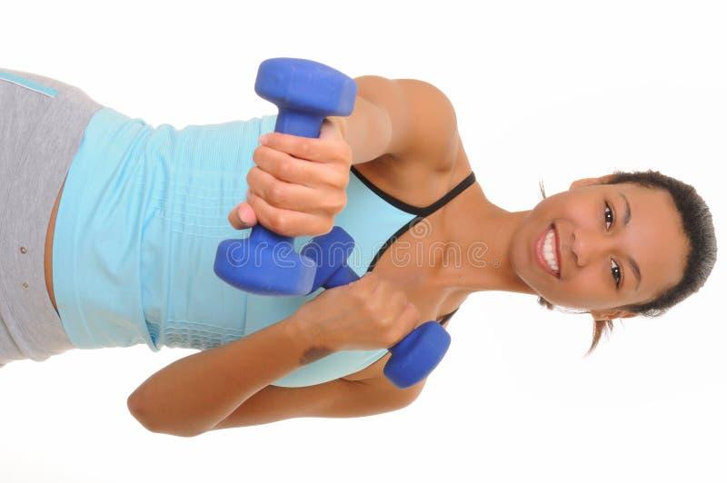 非洲裔美国人的健身女孩健康 库存图片