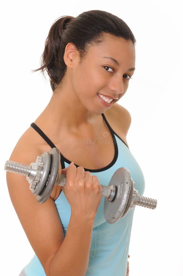 非洲裔美国人的健身女孩健康 免版税库存图片