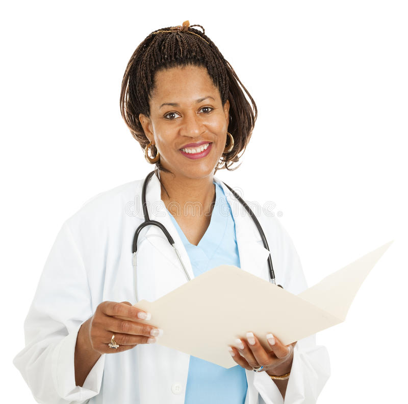 非洲裔美国人的医生女性 免版税库存图片