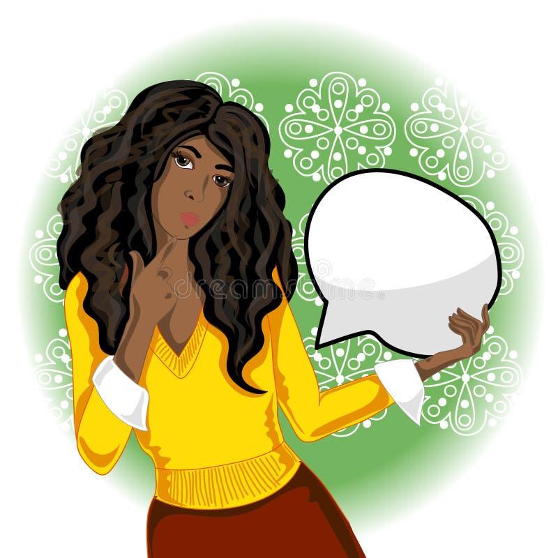 非洲裔美国人的向量妇女 向量例证