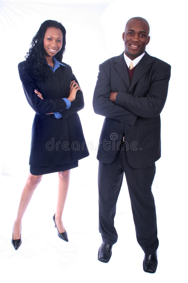 非洲裔美国人的商人 库存照片