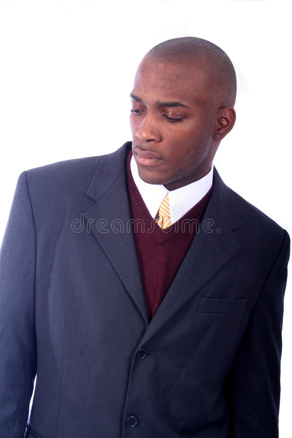 非洲裔美国人的商人 免版税库存图片