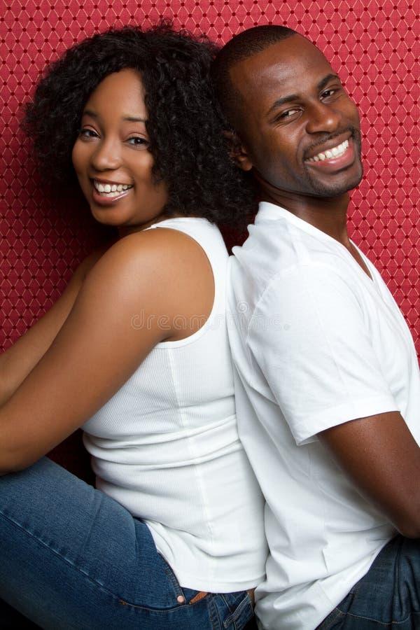 非洲裔美国人的夫妇 库存图片