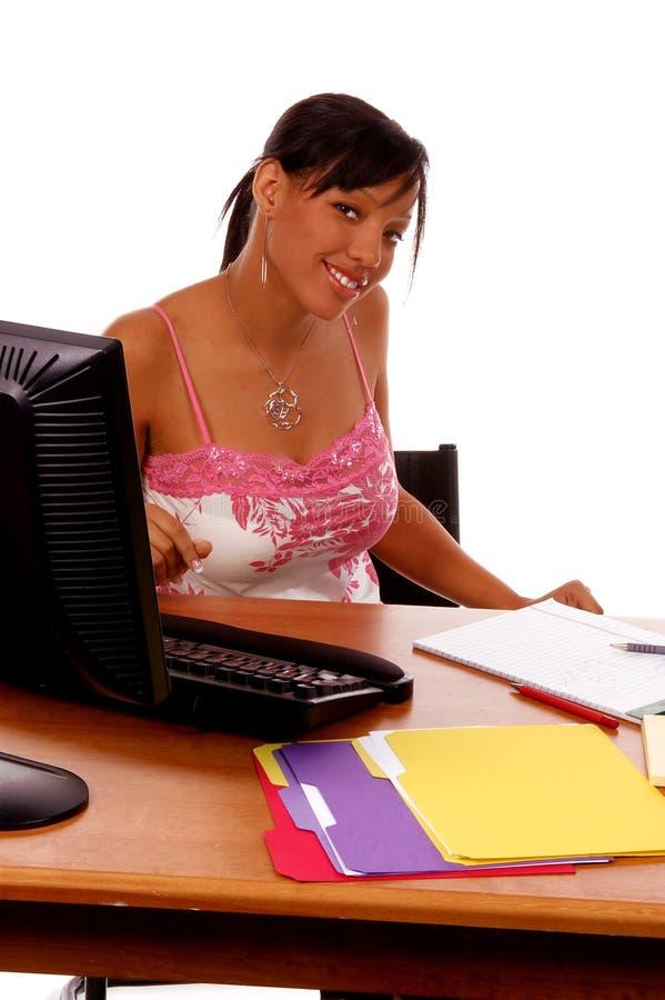 非洲裔美国人的女商人 免版税库存照片