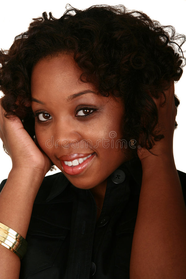 非洲裔美国人的女孩题头sho 库存图片