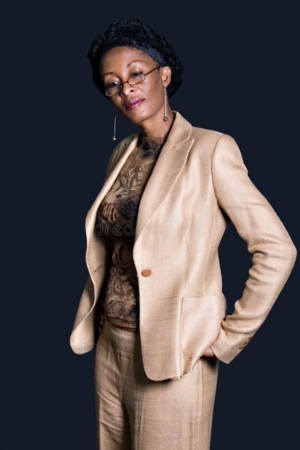 非洲裔美国人的女实业家 免版税库存照片