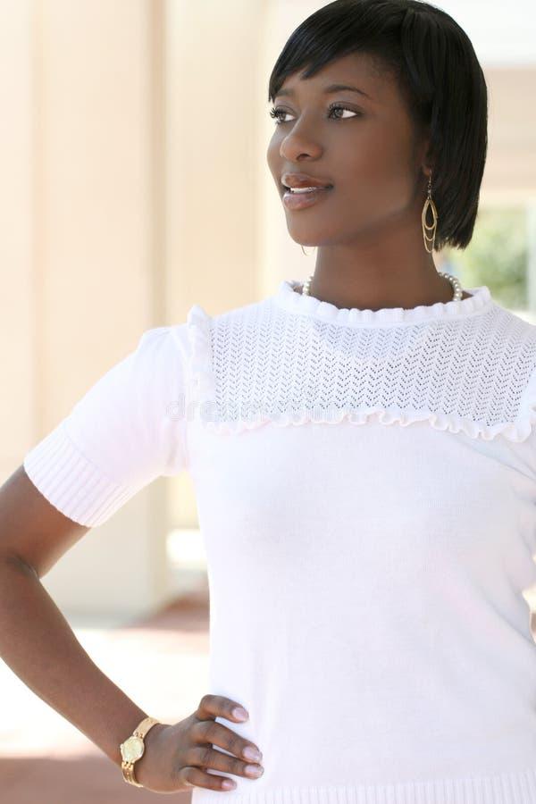 非洲裔美国人的女性华美的年轻人 图库摄影