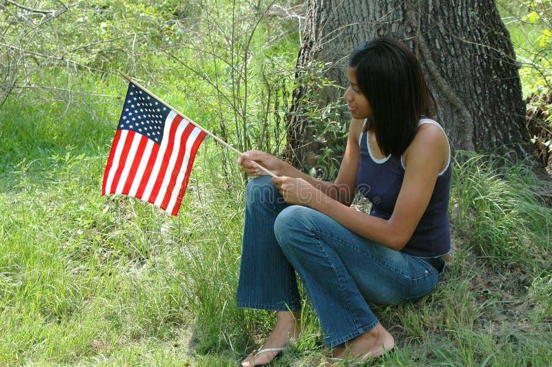 非洲裔美国人的女性 免版税库存照片